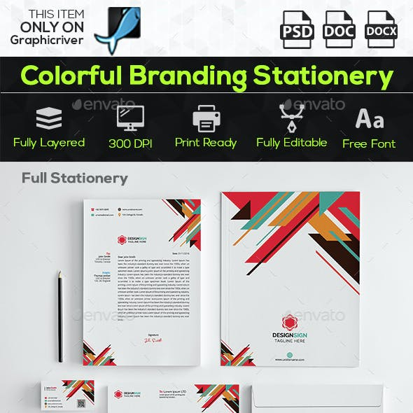 Colorful Branding Stationery