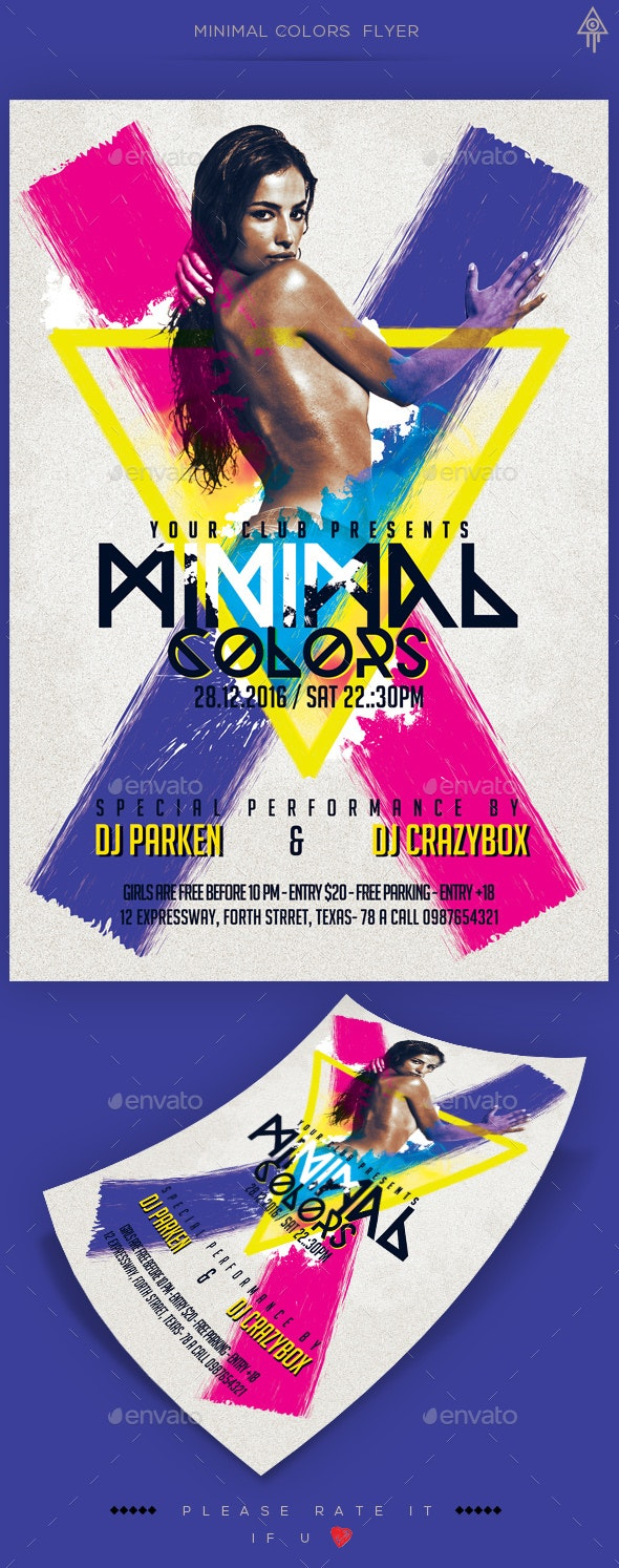 Minimal Colors Party Flyer - Clubs & Parties Events