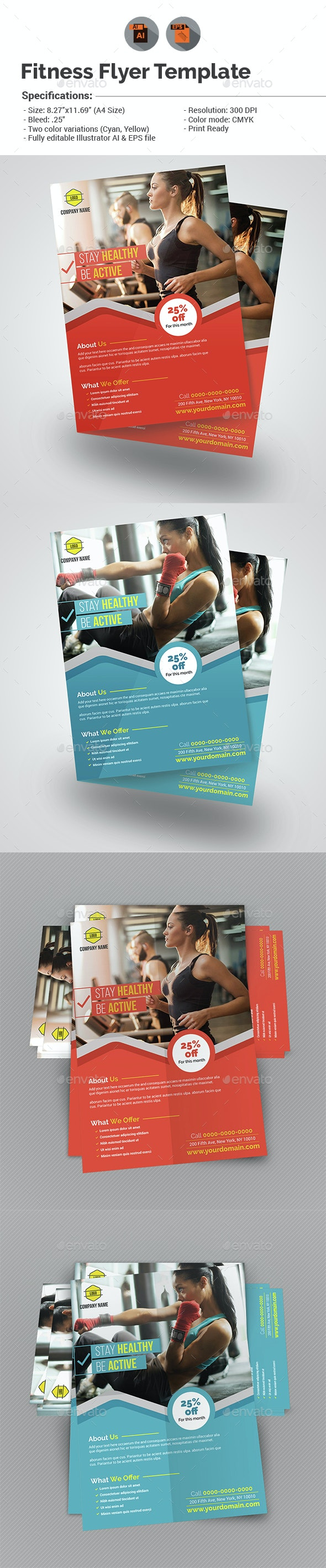 Fitness/Gym Flyer Template - Sports Events