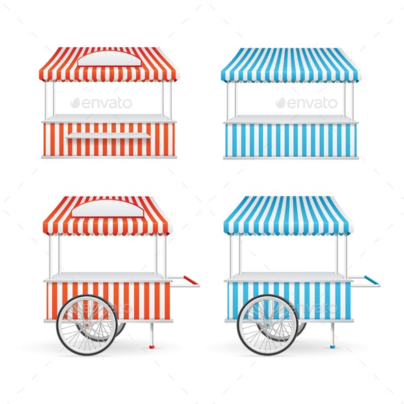 Market Stall Set - Retail Commercial / Shopping