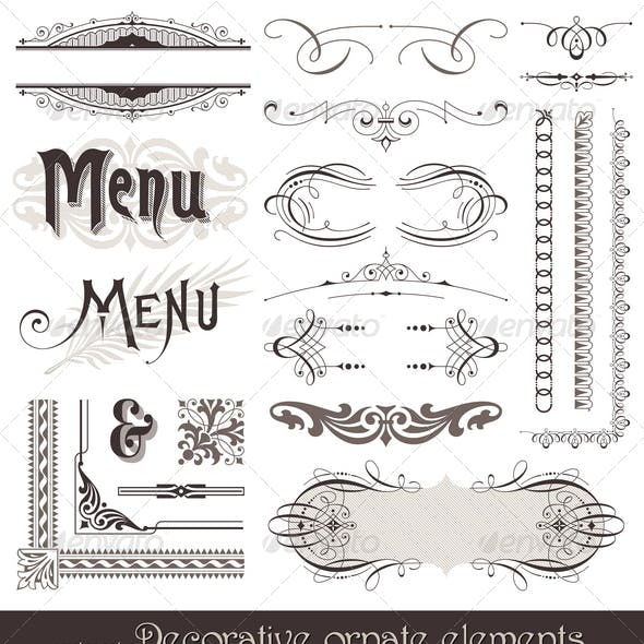 Ornate Design Elements & Calligraphic Page Decor