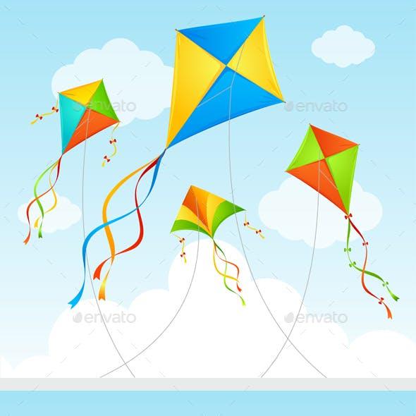 Fly Kite Summer Background
