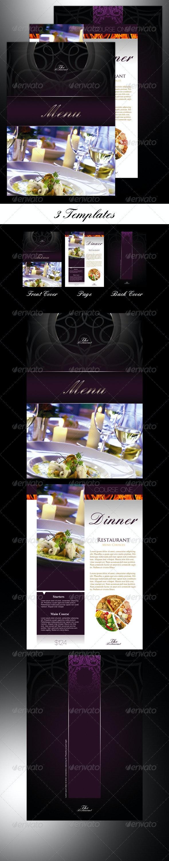 3 Restaurant Menu Templates - Informational Brochures