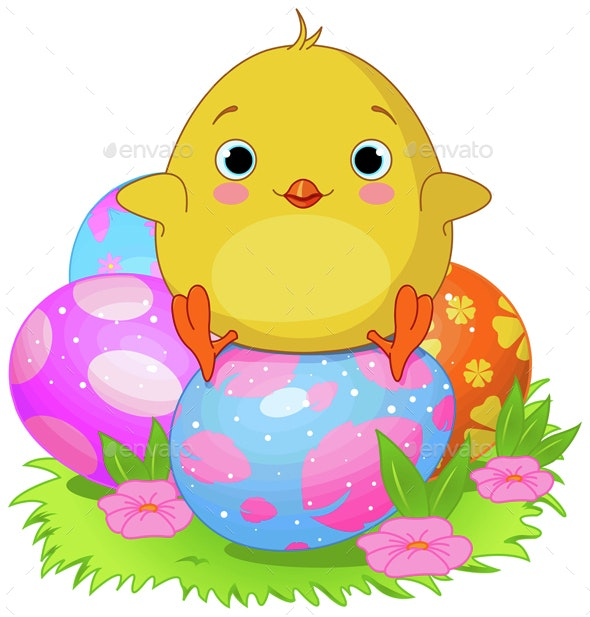 Easter Chicken  - Animals Characters