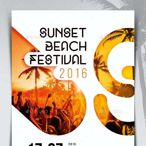 Sunset Beach Festival Flyer