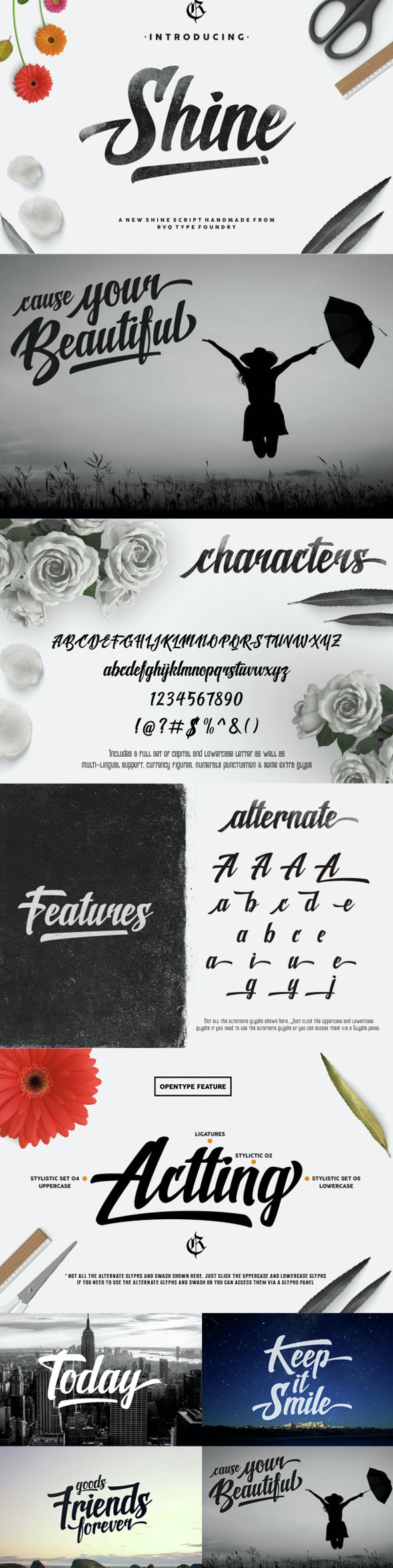 New shine script - Script Fonts