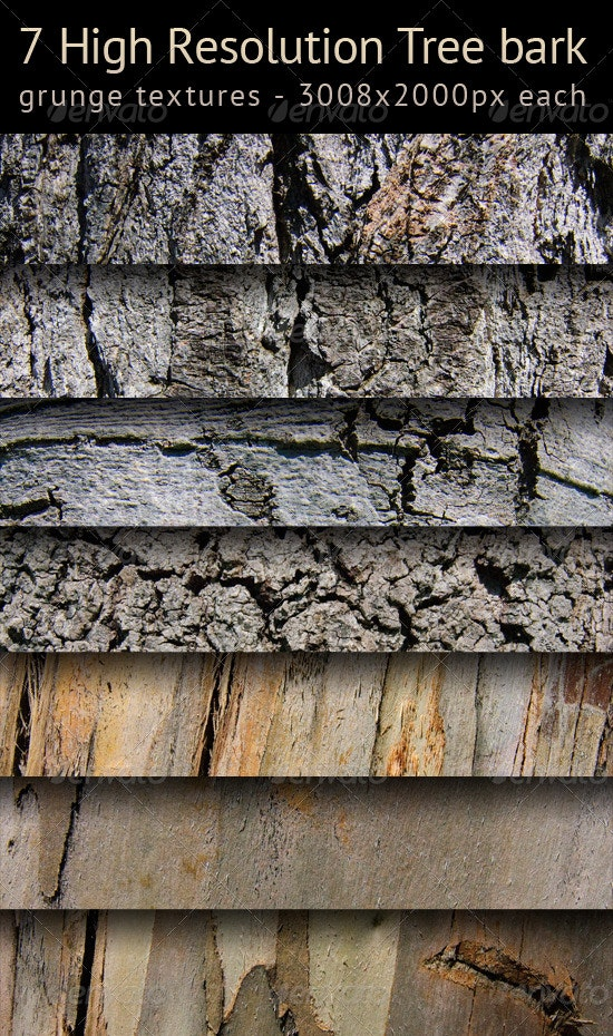 Tree bark texture pack - Wood Textures