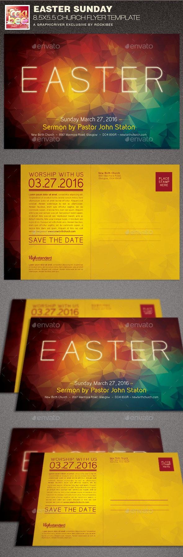 Easter Sunday Church Flyer Template - Church Flyers