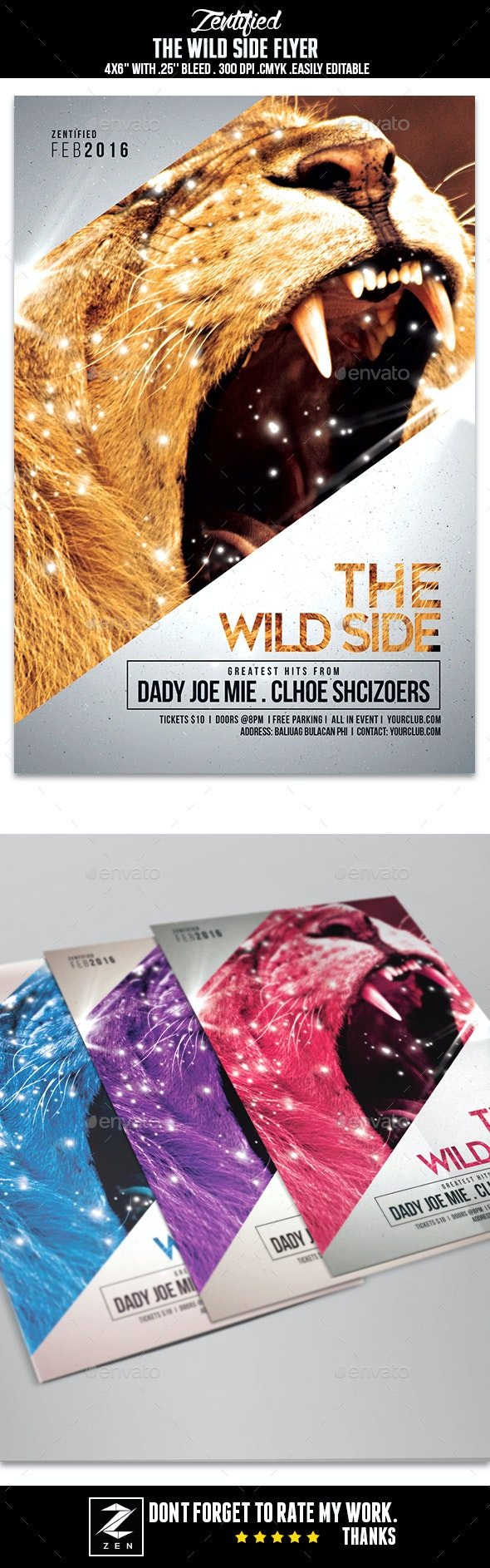 The Wild Side Flyer - Clubs & Parties Events