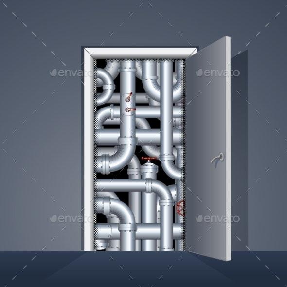 Door To Boiler Room - Buildings Objects