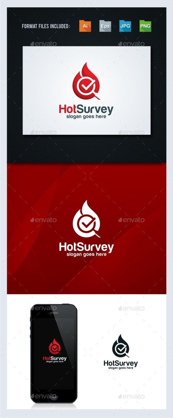 Check Survey - Flame Logo Template - Symbols Logo Templates