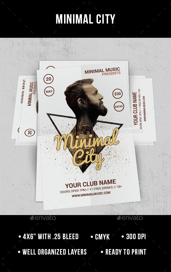 Minimal City - Flyer - Clubs & Parties Events