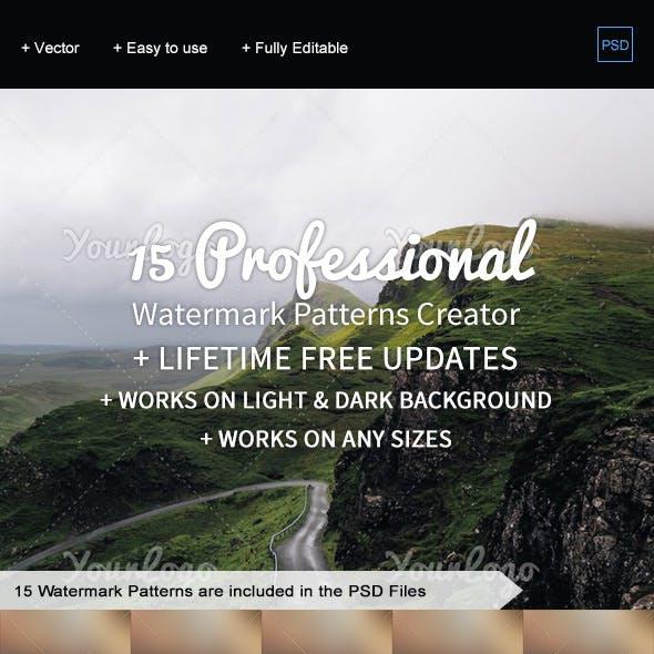 15 Watermark Patterns Generator
