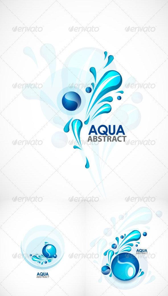 Aqua vector backgrounds - Nature Conceptual