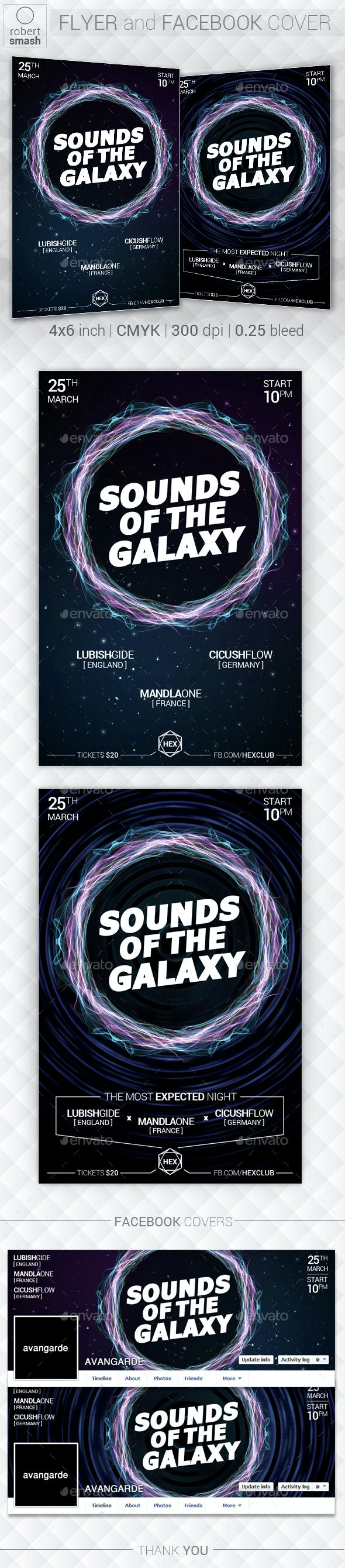 Sounds Of Galaxy Music Flyer - Clubs & Parties Events
