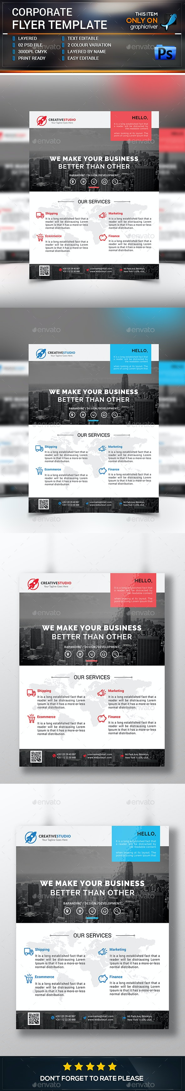 Corporate Flyer Tamplate - Corporate Flyers