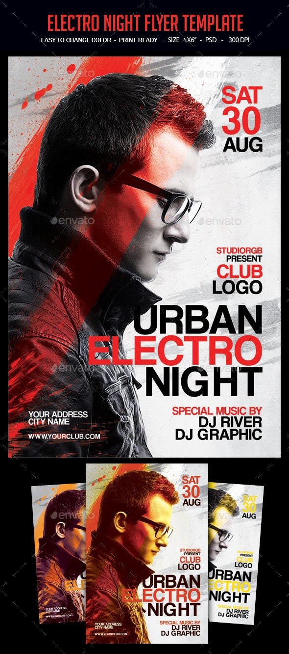 Electro Night Flyer Template - Clubs & Parties Events