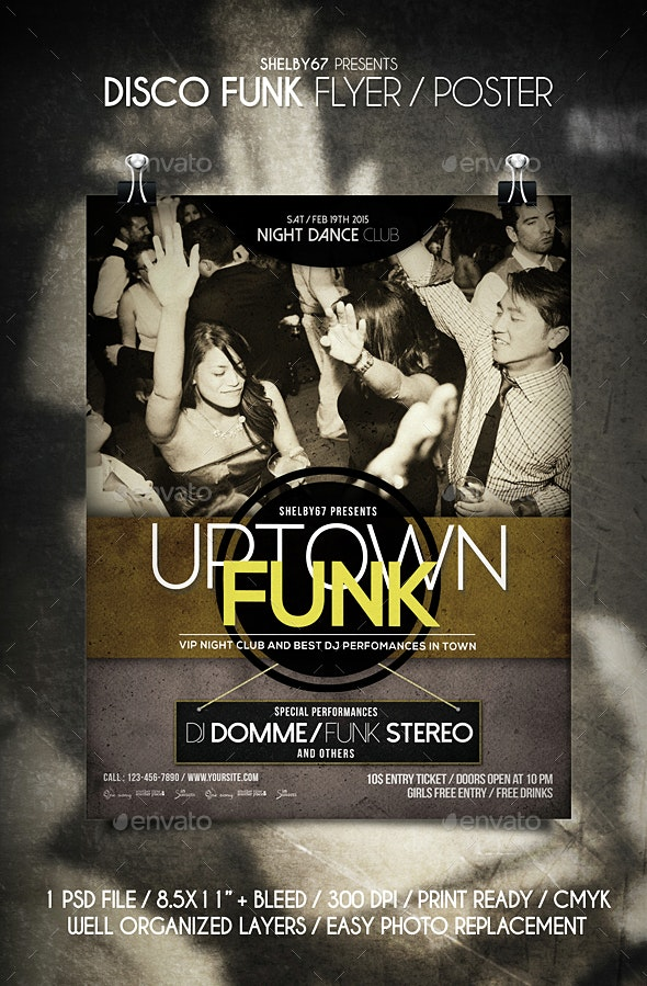 Disco Funk Flyer / Poster - Clubs & Parties Events