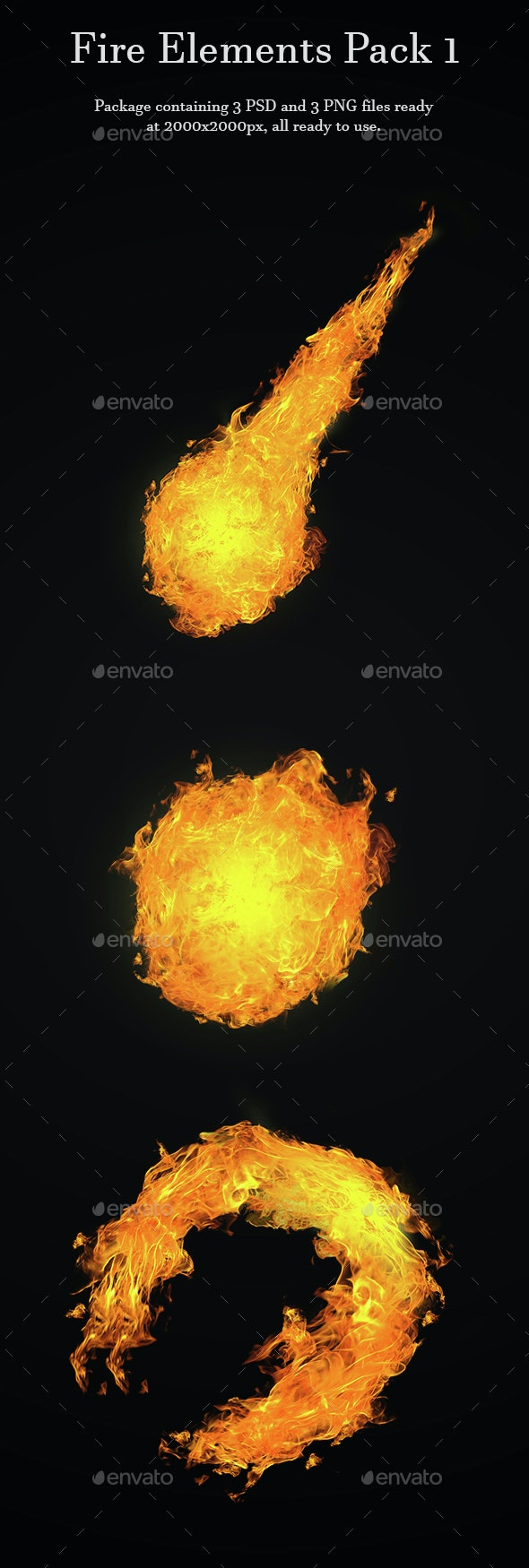 Fire Elements Pack 1 - Miscellaneous Backgrounds