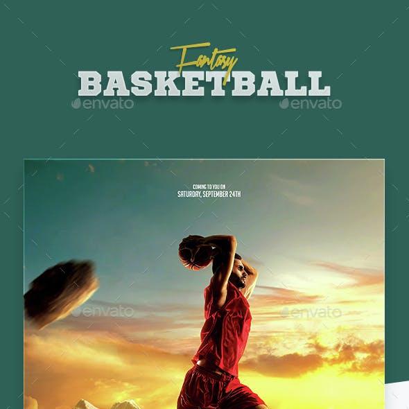 Fantasy Basketball Flyer Template