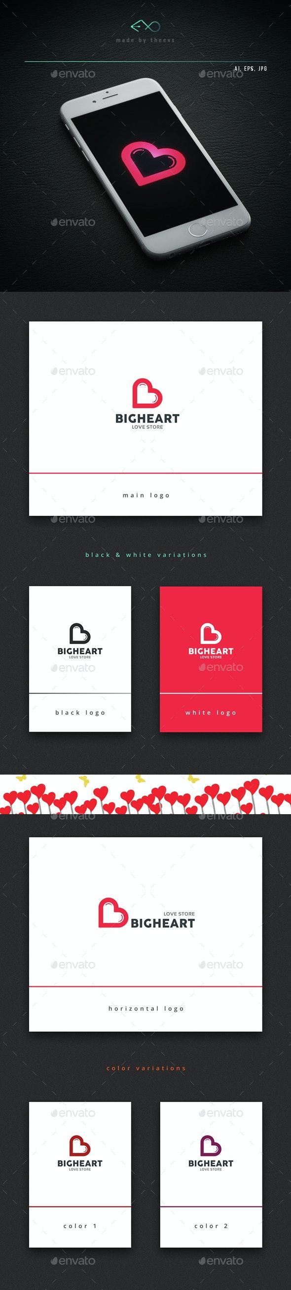 Bigheart - Letters Logo Templates