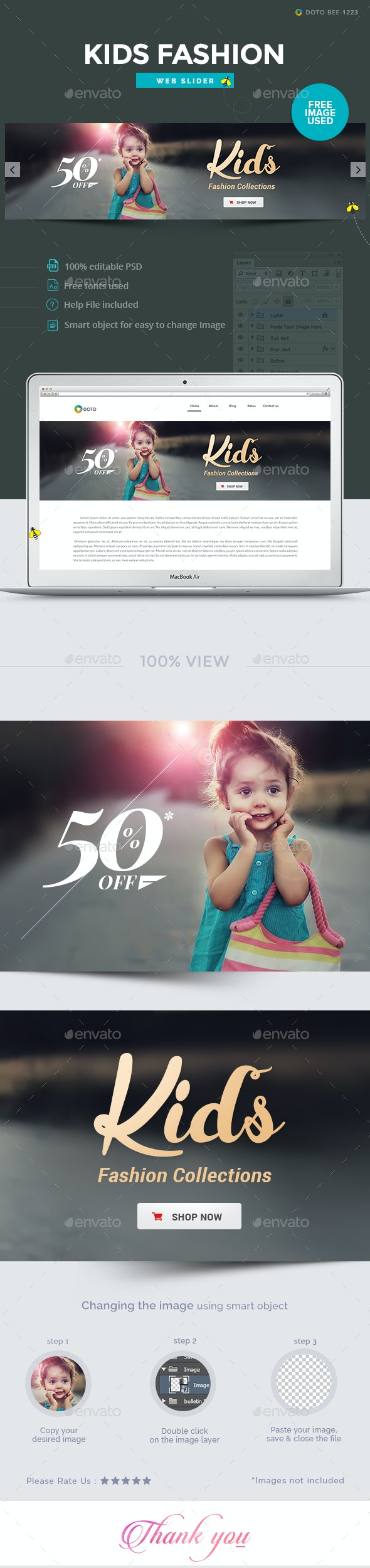 Kids Fashion Slider - Sliders & Features Web Elements