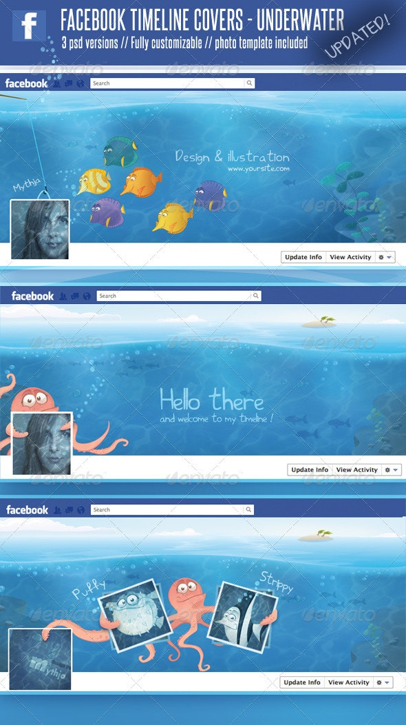 3 Facebook Timeline Covers – Underwater World - Facebook Timeline Covers Social Media