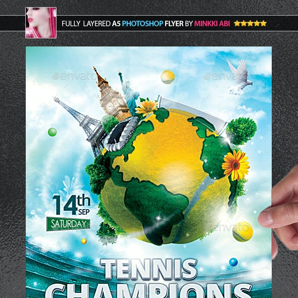 Tennis Champions Poster/Flyer