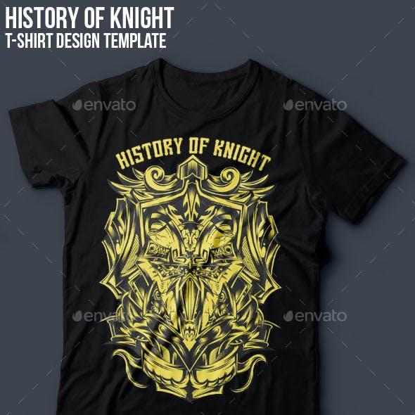 History of Knight T-shirt Design