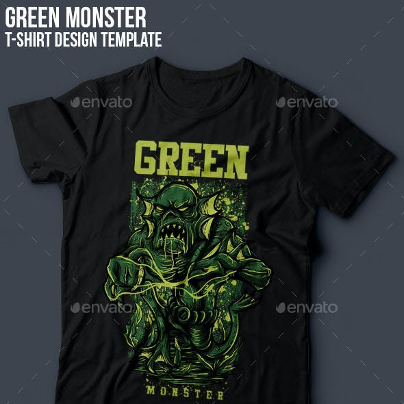 Green Monster T-Shirt Design