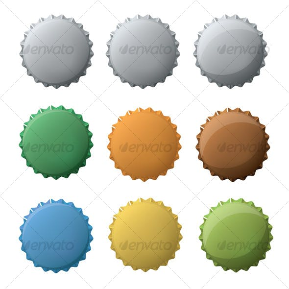 Bottle caps set
