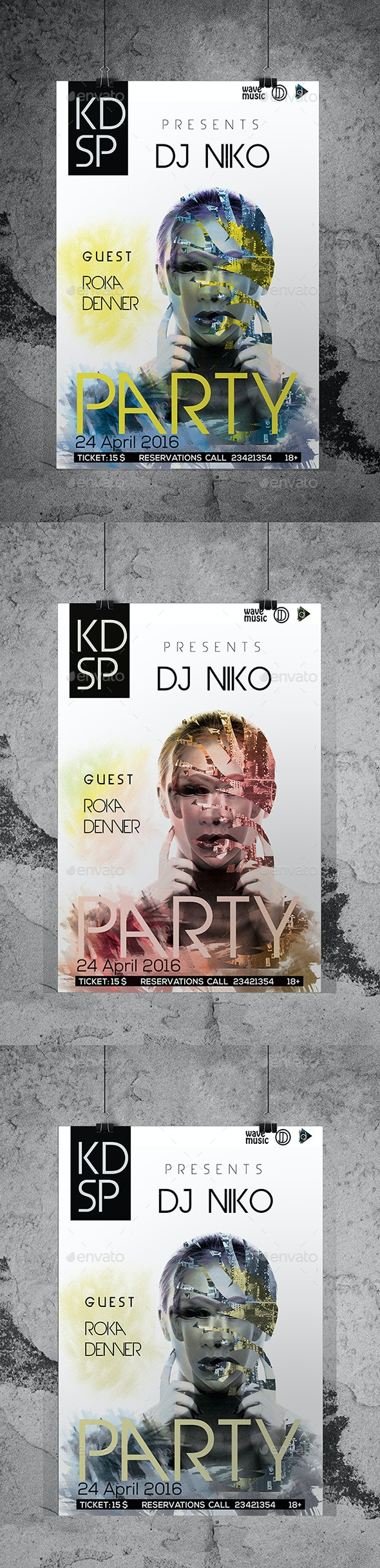 DJ Club Party Flyer/Poster Custom PSD File by sagaciousdesign