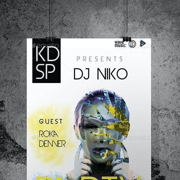 DJ Club Party Flyer/Poster Custom PSD File