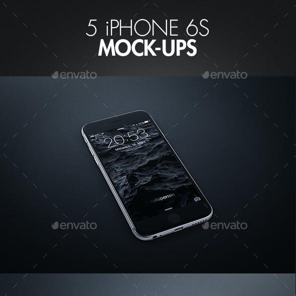 5 iPhone 6s Mock-Ups