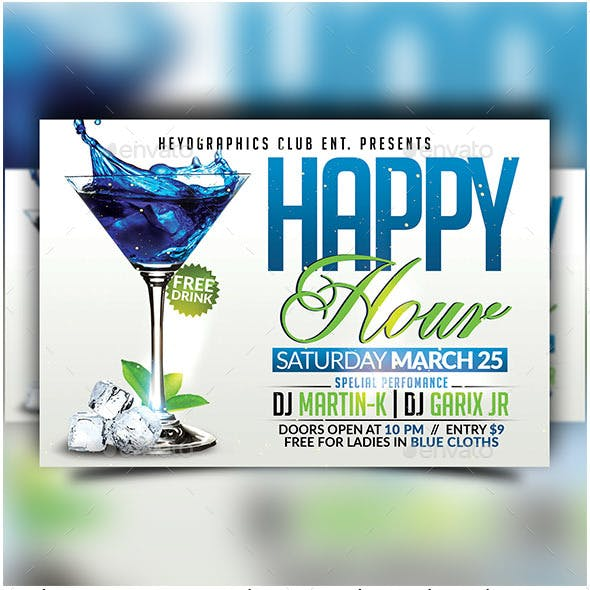Happy Hour - Flyer Template