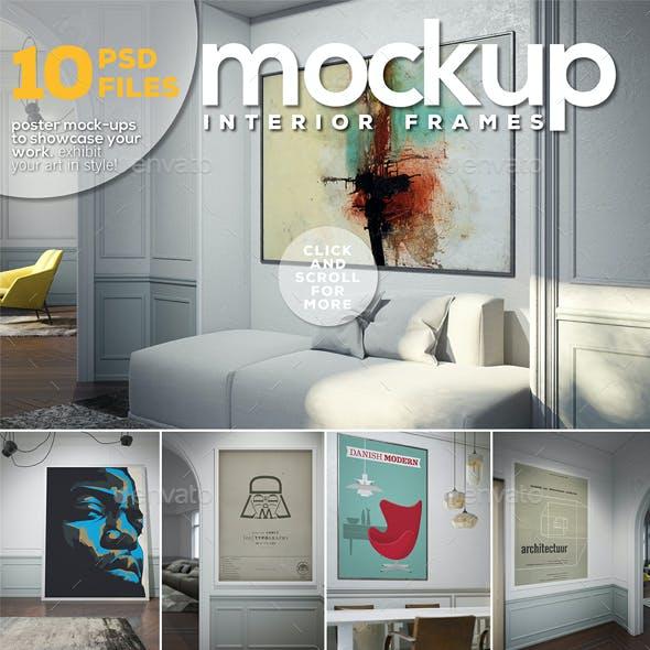 Poster Mockup - Interior Frames