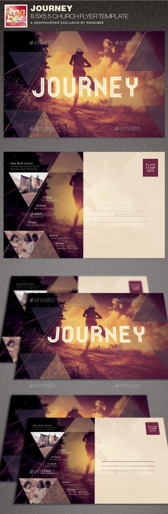 Journey Church Flyer Template - Church Flyers