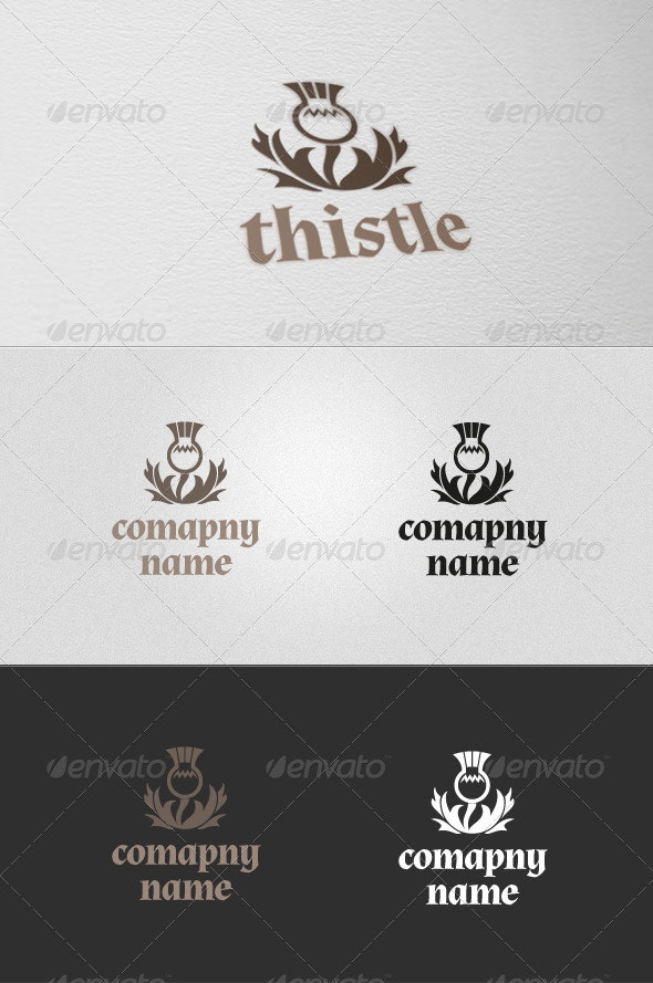 Thistle Logo - Nature Logo Templates