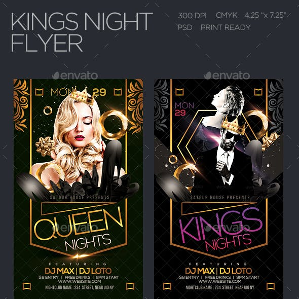 Kings Nights Party Flyer