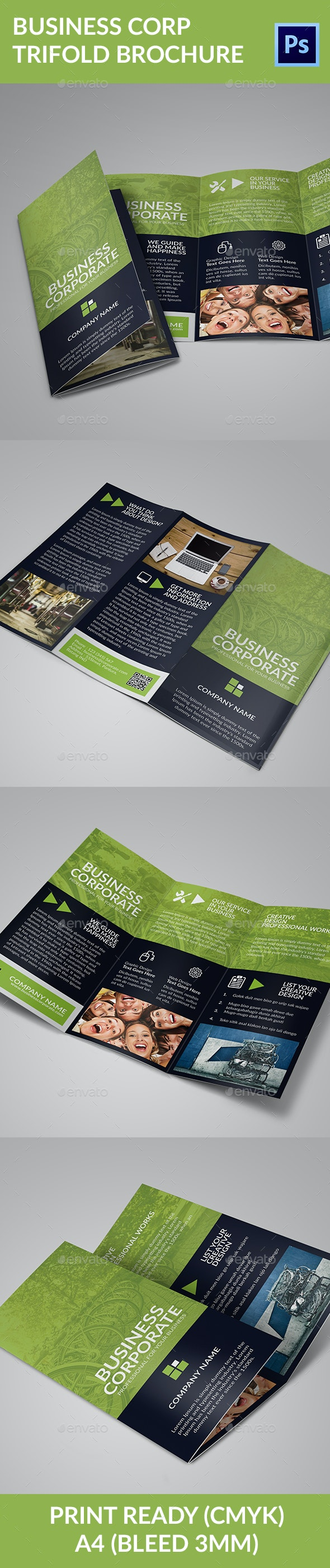 Business Corp Trifold Brochure - Corporate Brochures