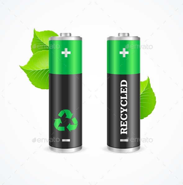 Recycled Battery Eco Concept - Miscellaneous Conceptual