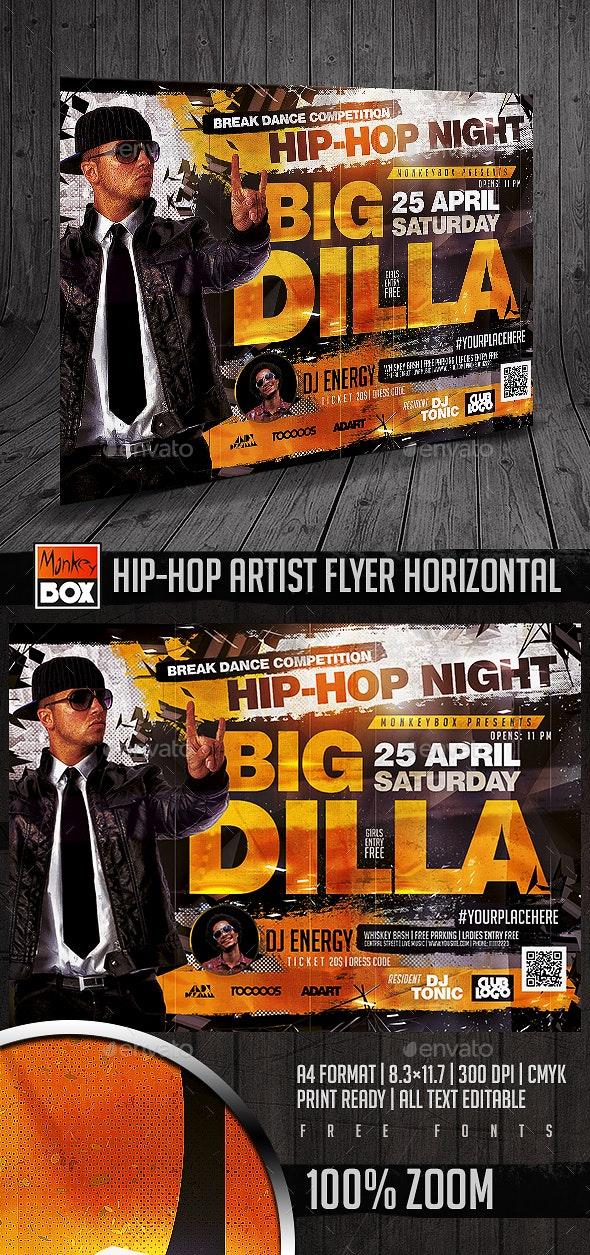Hip-Hop Artist Flyer Horizontal - Flyers Print Templates