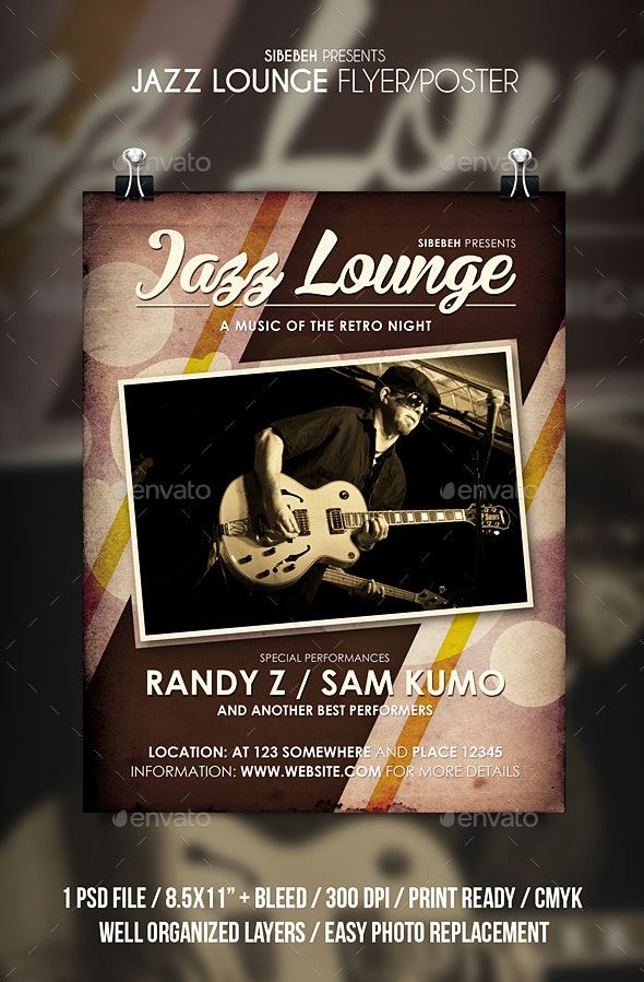 Jazz Lounge Flyer / Poster - Events Flyers