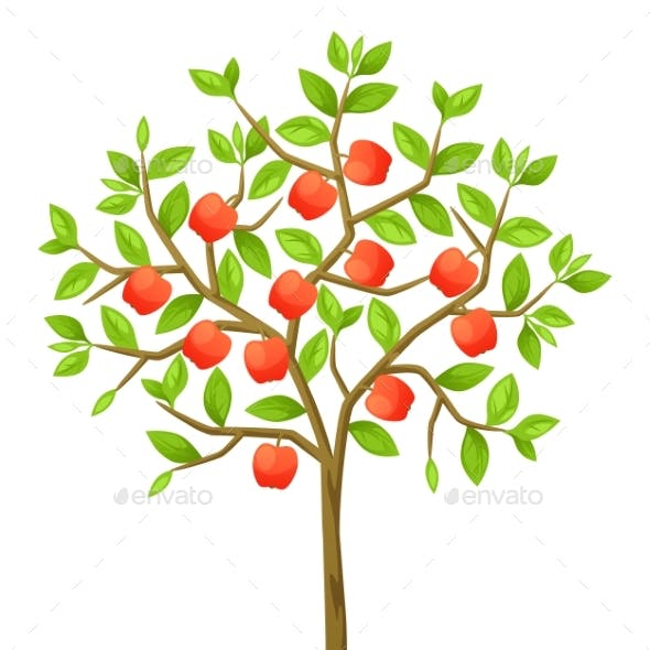 Fruit Tree with Apples