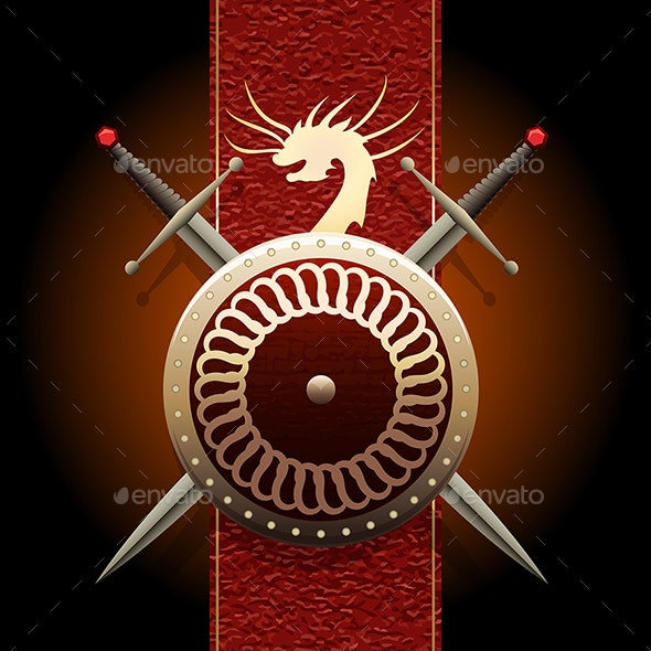 The Dragon Shield - Backgrounds Decorative