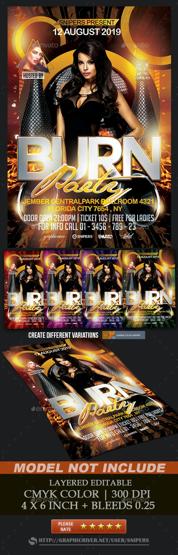 Burn Party - Events Flyers