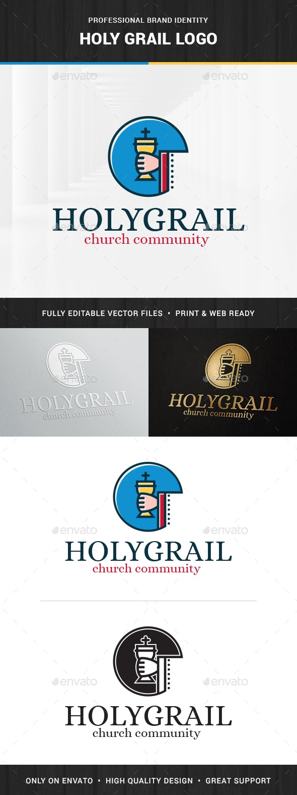 Holy Grail Logo Template - Logo Templates