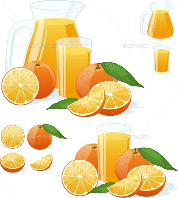 Orange Fresh Set - Food Objects