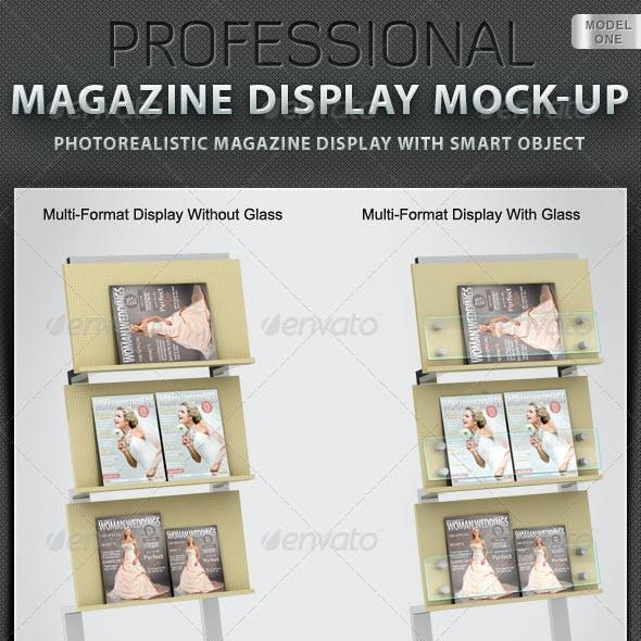 Professional Magazine Display Mock-up V1