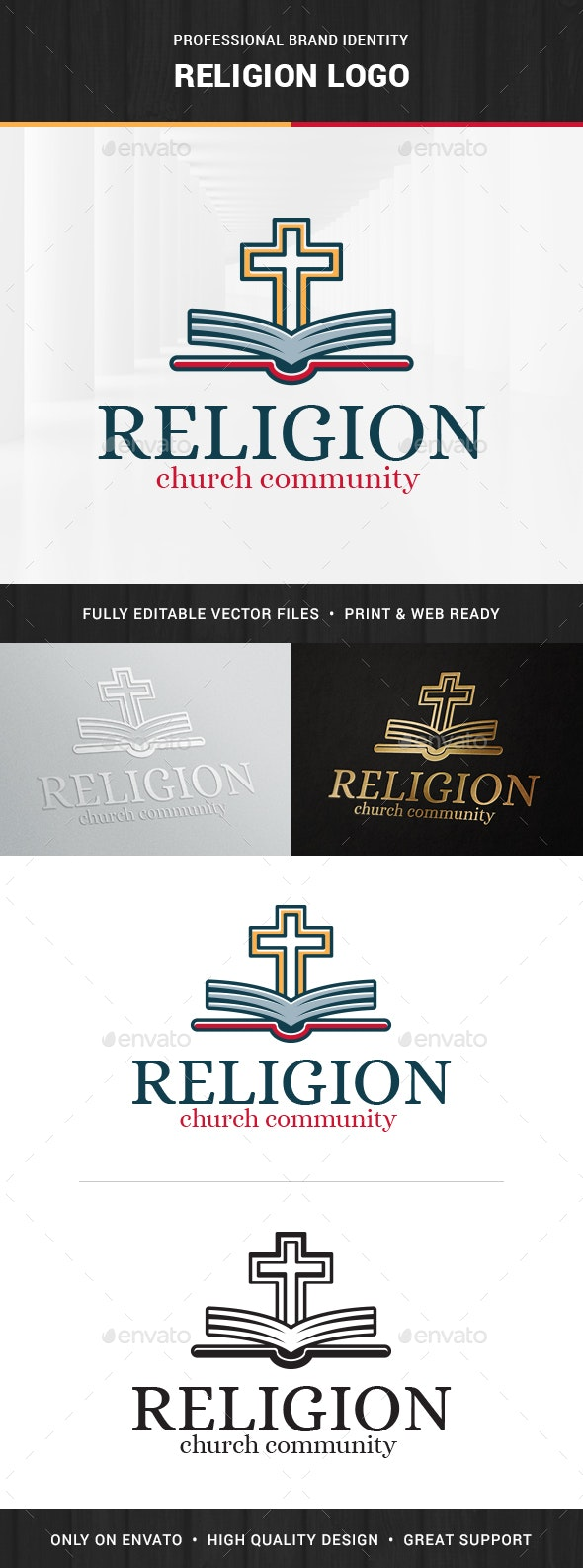 Religion Logo Template - Objects Logo Templates